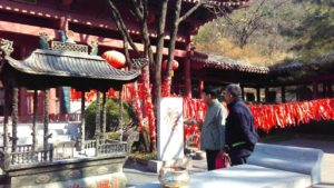 Buddhist temple located inside the Red Leaves Valley in Jinan